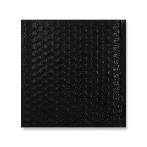 230MM SQUARE GLOSS METALLIC BLACK PADDED ENVELOPES