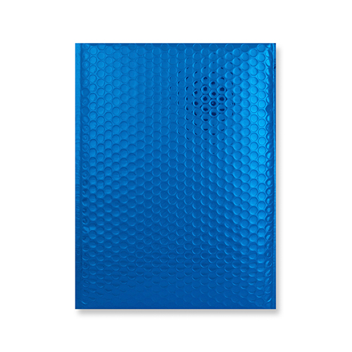 C5 + GLOSS METALLIC BLUE PADDED ENVELOPES (250 x 180MM)