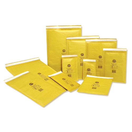JIFFY AIRKRAFT GOLD 205 x 245mm ENVELOPES (2)