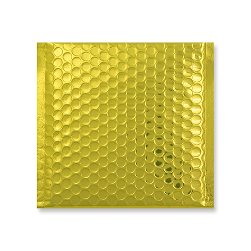 165mm square gold metallic padded envelopes