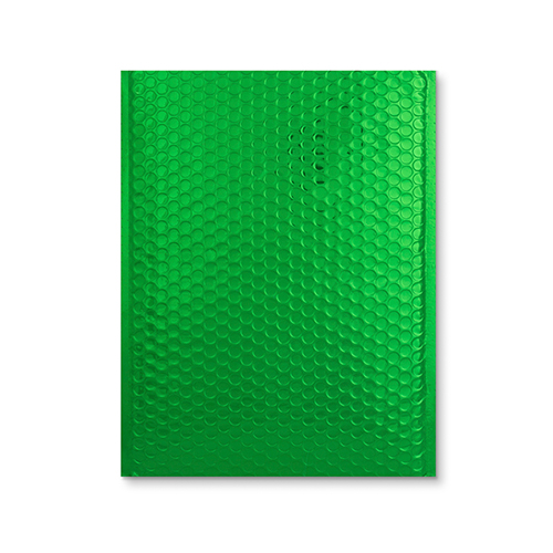 C4 GLOSS METALLIC GREEN PADDED ENVELOPES (324 x 230MM)