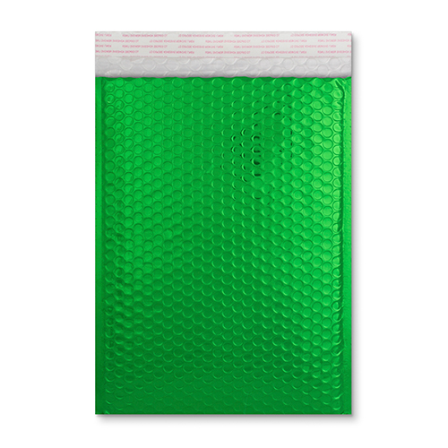 C5 green metallic padded envelopes
