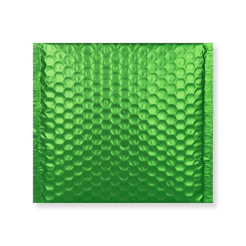 165MM SQUARE MATT METALLIC GREEN PADDED ENVELOPES