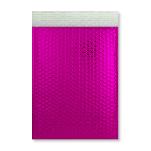 C5 + GLOSS METALLIC HOT PINK PADDED ENVELOPES (250 x 180MM)