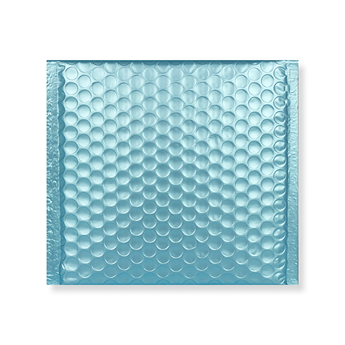165MM SQUARE MATT METALLIC ICE BLUE PADDED ENVELOPES