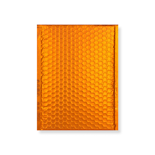 C5 + MATT METALLIC ORANGE PADDED ENVELOPES (250 x 180MM)