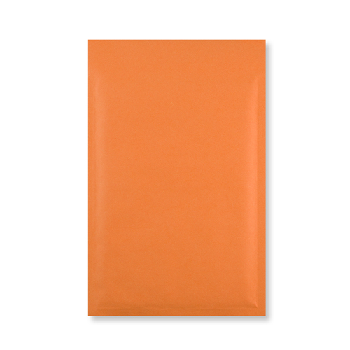 C5 + ORANGE PADDED BUBBLE ENVELOPES (250 x 180MM)