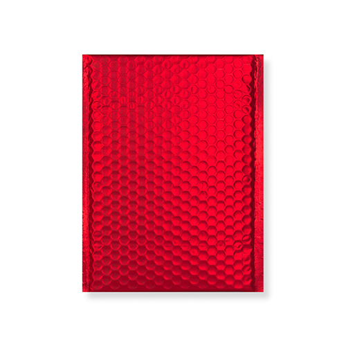 C5 + MATT METALLIC RED PADDED ENVELOPES (250 x 180MM)