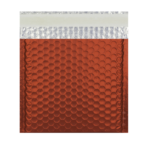 165MM SQUARE MATT METALLIC RED PADDED ENVELOPES