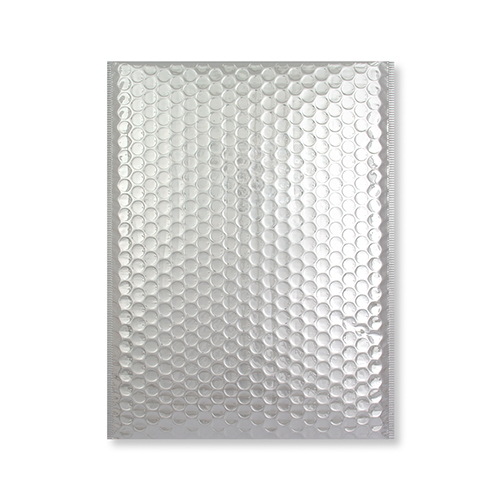 C5 + GLOSS METALLIC SILVER PADDED ENVELOPES (250 x 180MM)