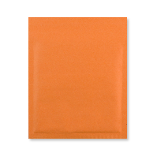 165MM SQUARE ORANGE PADDED BUBBLE ENVELOPES