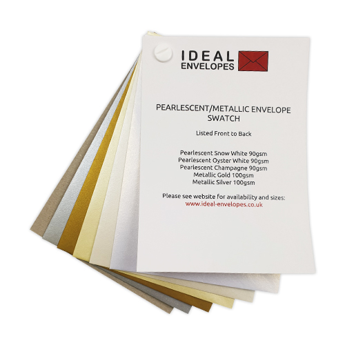 METALLIC & PEARLESCENT COLOURED ENVELOPES SWATCH