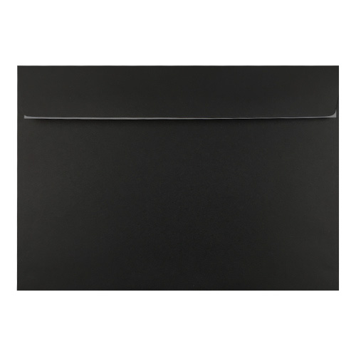 C6 BLACK 180GSM PEEL AND SEAL ENVELOPES
