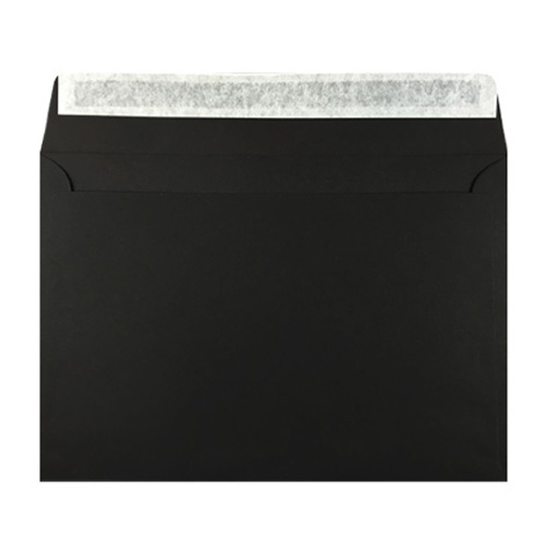 C6 Black Peel & Seal Envelopes 180gsm