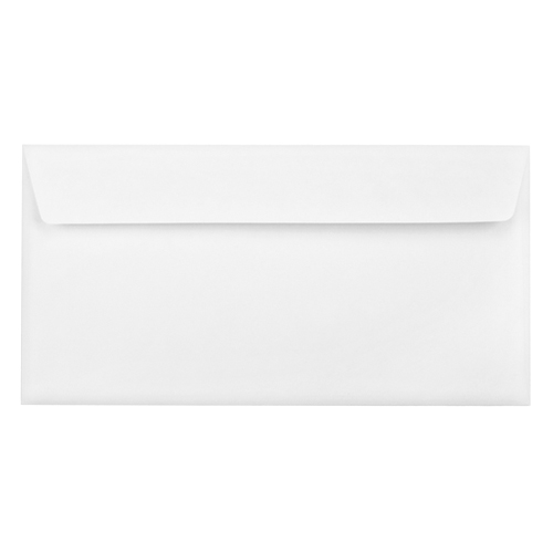 DL ULTRA WHITE 120GSM WALLET PEEL AND SEAL WINDOW ENVELOPES