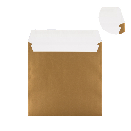 GOLD 220mm SQUARE PEEL & SEAL ENVELOPES