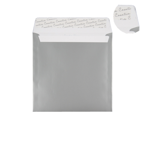 SILVER 220mm SQUARE PEEL & SEAL ENVELOPES