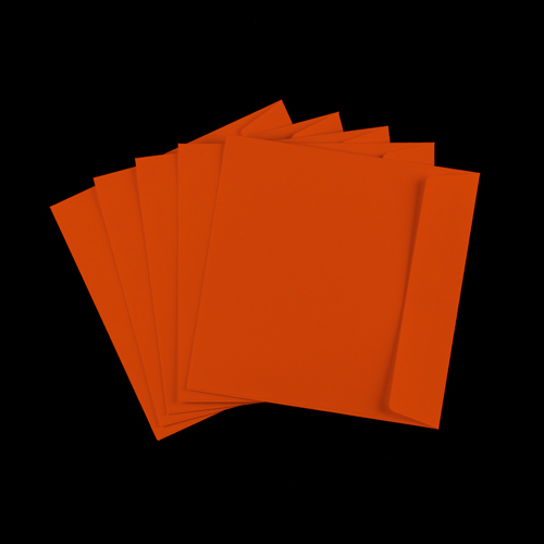 220mm Square Orange Envelopes