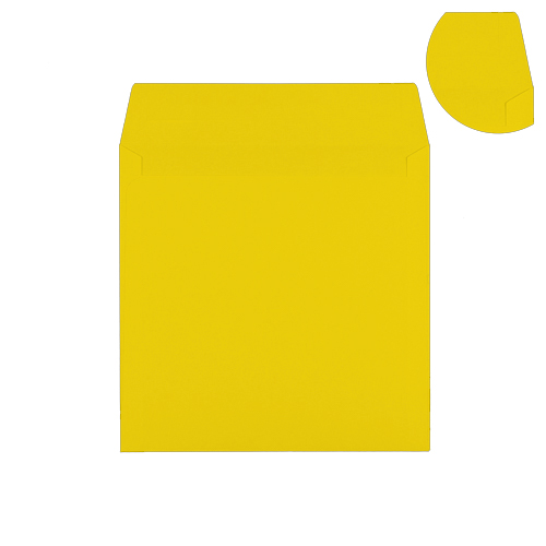 220mm Square Canary Yellow Envelopes