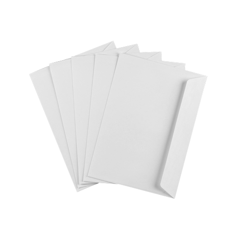 C5 ULTRA WHITE 120GSM WALLET PEEL AND SEAL WINDOW ENVELOPES