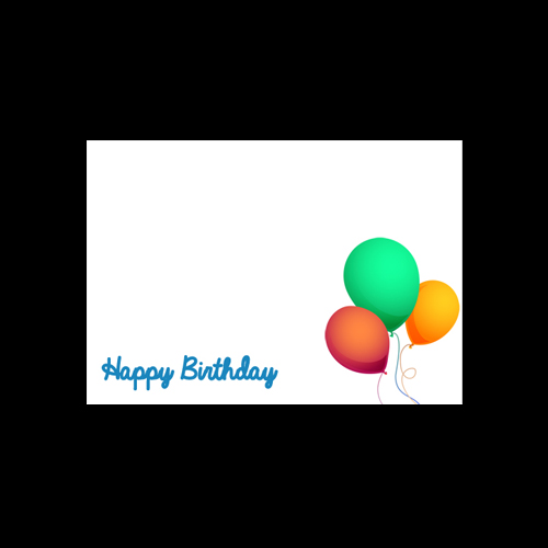 C6 WHITE PRINTED HAPPY BIRTHDAY ENVELOPES BLUE TEXT (PACK OF 10)