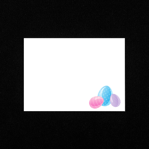 C6 WHITE PRINTED EASTER EGGS ENVELOPES (PACK OF 10)