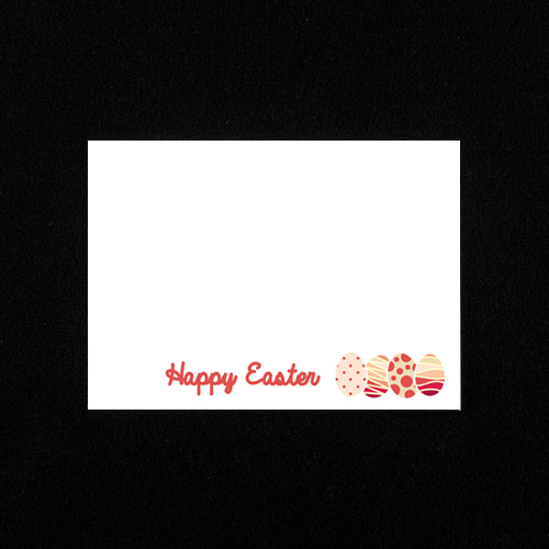 C6 WHITE PRINTED HAPPY EASTER ENVELOPES (PACK OF 10)