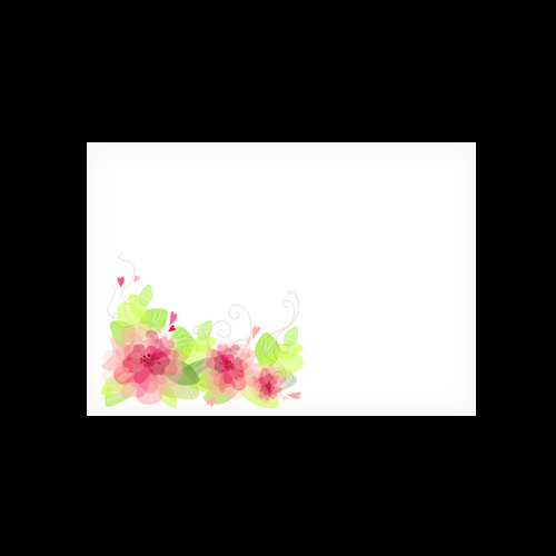 C6 WHITE PRINTED FLORAL 3 ENVELOPES (PACK OF 10)