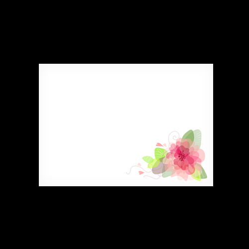 C6 WHITE PRINTED FLORAL 4 ENVELOPES (PACK OF 10)