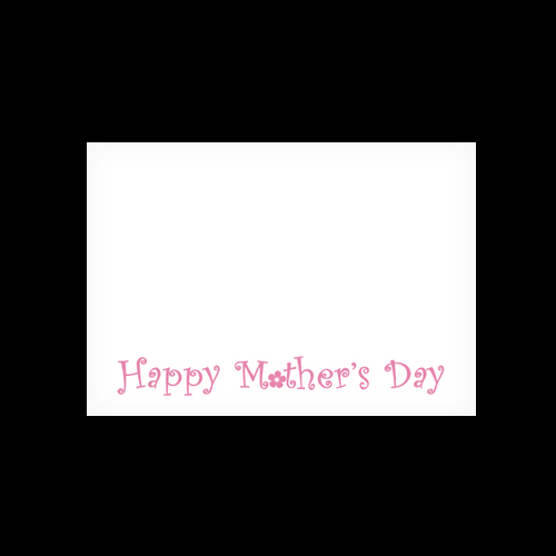 C6 WHITE PRINTED HAPPY MOTHER'S DAY ENVELOPES (PACK OF 10)