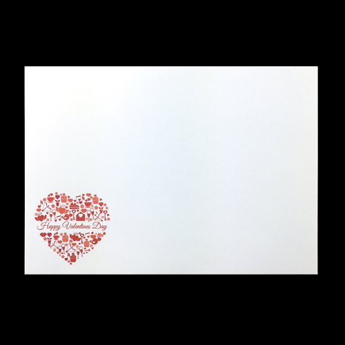 Valentines Heart Printed Envelopes