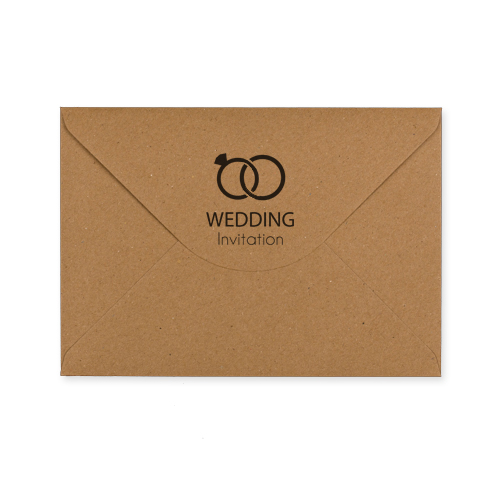 6x9 Wedding Invitation Envelopes: C5 KRAFT PRINTED WEDDING RINGS INVITATION ENVELOPES