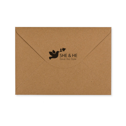 C5 KRAFT PRINTED SHE & HE ENVELOPES (PACK OF 10)