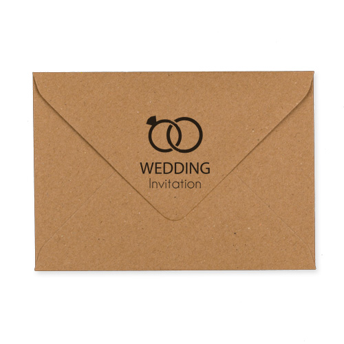 C6 Printed Kraft Wedding Envelopes