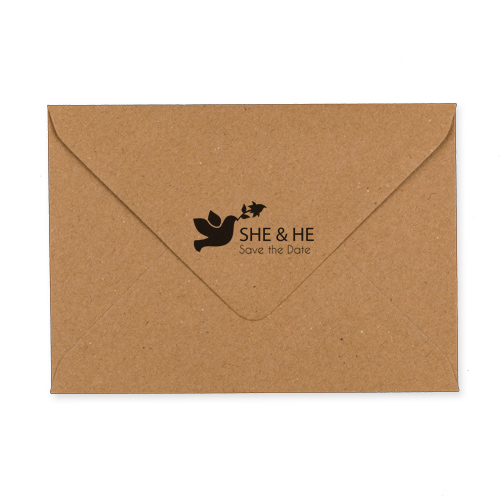 C6 KRAFT PRINTED SHE & HE ENVELOPES (PACK OF 10)