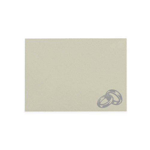 C6 IVORY PRINTED SILVER RINGS ENVELOPES (PACK OF 10)