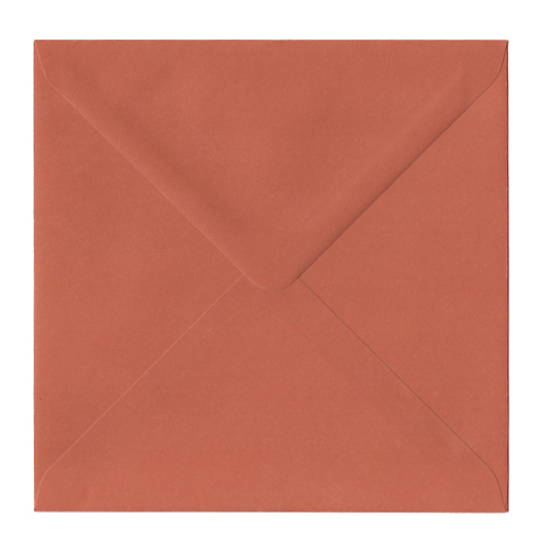 BURNT ORANGE 155MM SQUARE ENVELOPES
