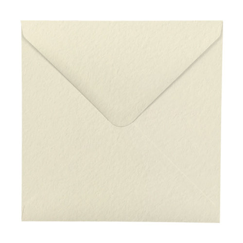 IVORY HAMMER EFFECT 130mm SQUARE ENVELOPES 135GSM