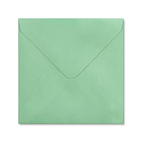 PALE GREEN 155mm SQUARE ENVELOPES