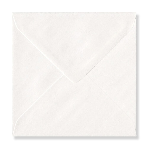 PEARLESCENT NORDIC WHITE 155mm SQUARE ENVELOPES 120GSM