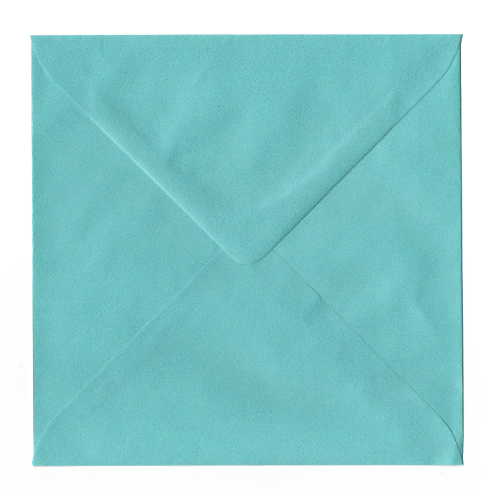 PEARLESCENT TURQUOISE 155MM SQUARE ENVELOPES