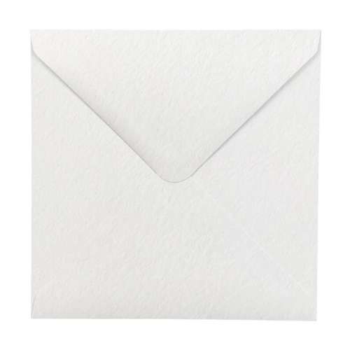 WHITE HAMMER EFFECT 100mm SQUARE ENVELOPES