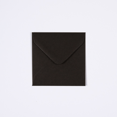 BLACK 100mm SQUARE ENVELOPE