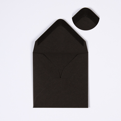 BLACK 130mm SQUARE ENVELOPE