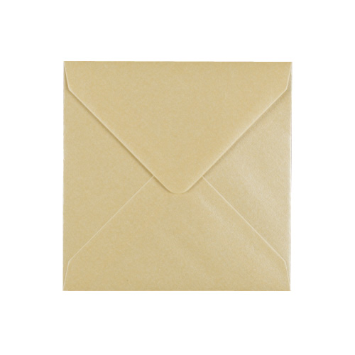 PEARLESCENT CHAMPAGNE 100mm SQUARE ENVELOPES