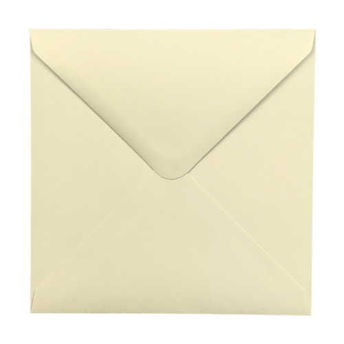 CREAM 155mm SQUARE ENVELOPES