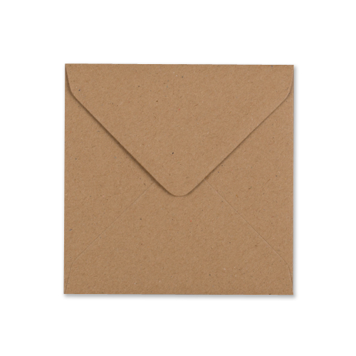 RECYCLED FLECK KRAFT 130 mm SQUARE ENVELOPES