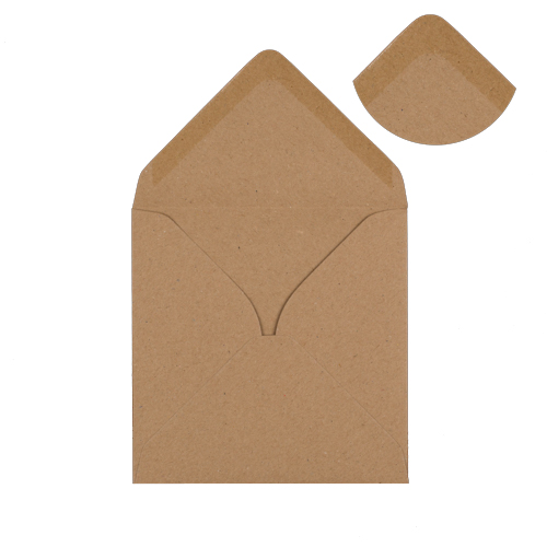 RECYCLED FLECK KRAFT 100mm SQUARE ENVELOPES