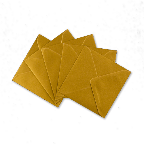 METALLIC GOLD 155mm SQUARE ENVELOPES