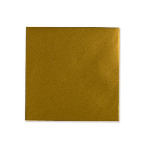 METALLIC GOLD 155mm SQUARE ENVELOPES (NEW SHADE)